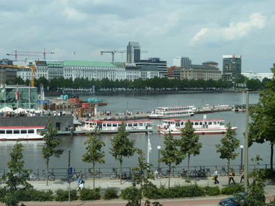 Inner Alster Lake with Boats