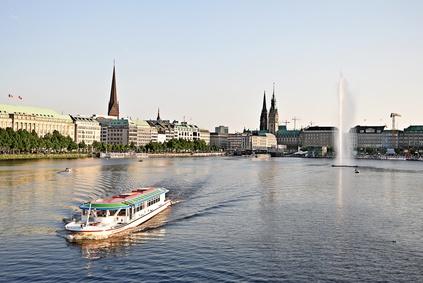 Hamburg Alster Lake boat trip